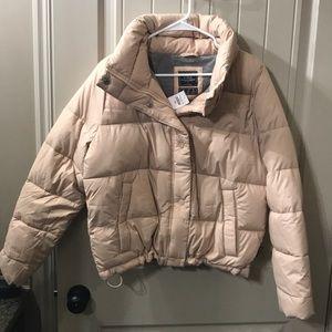 Abercrombie Mini Puffer   Size L in Blush